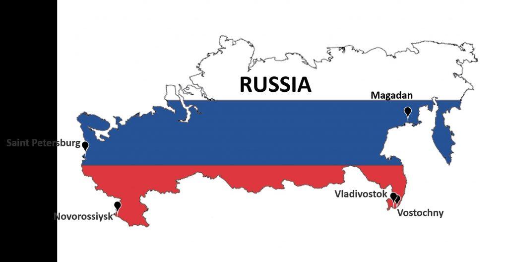 Những cảng biển tại Nga